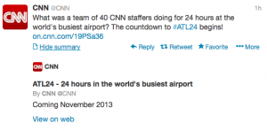 40 CNN staffers spent 24 hours in Atlanta Airport.