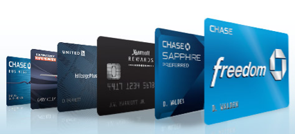 Getting a Chase credit card is a good first step to take.