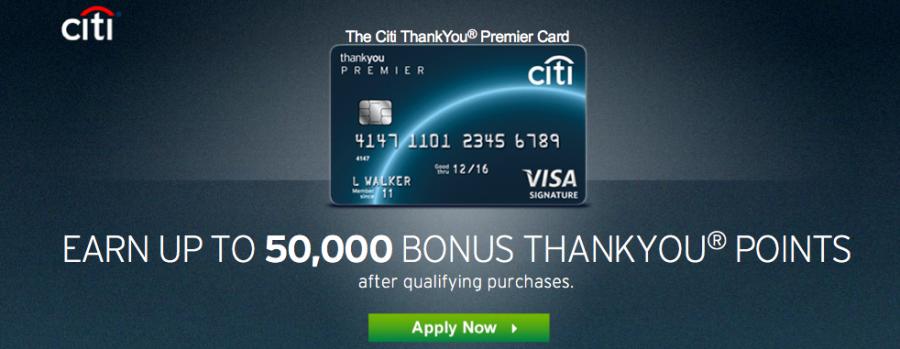Citi ThankYou Premier 50k