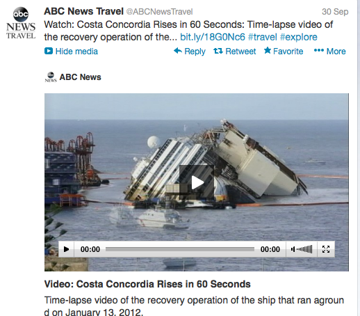 ABCNewsTravel has packed the recovery project of the Costa Concordia into 60 seconds.