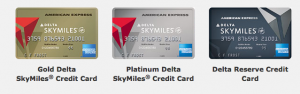 The Delta collection of American Express Cards.