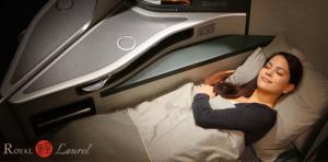 Lie back and sleep in EVA's Royal Laurel Class.