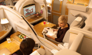 Emirates luxurious First Class cabin is not out of reach thanks to SkyWards.