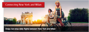 Emirates now flies from JFK to Milan, offering a First Class service