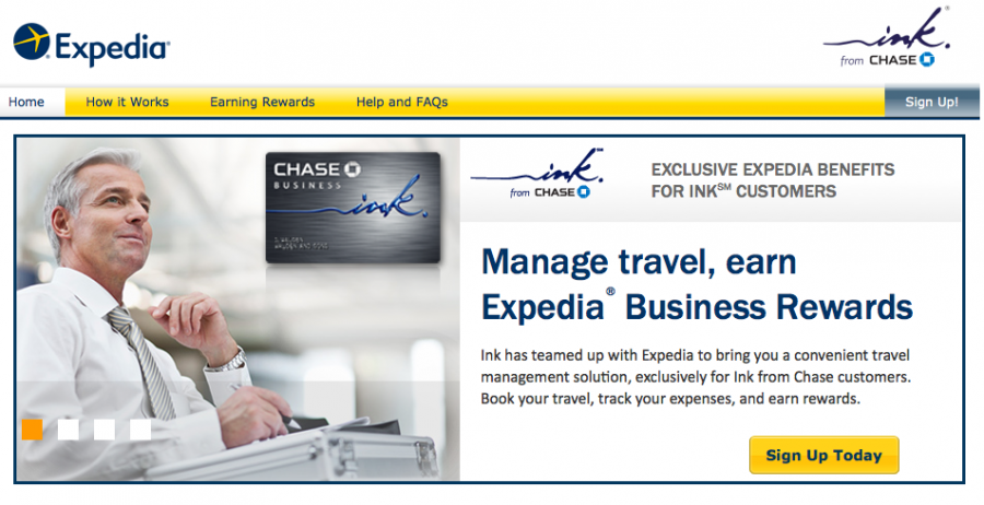 Expedia has launched a rewards program for small business travelers who carry Chase credit cards.
