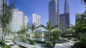 The pool at the Grand Hyatt Kuala Lumpur.