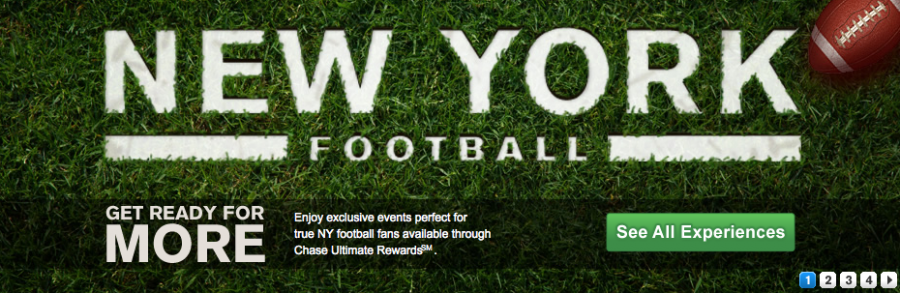 New York Jets games are some of the many experiences offered by Chase Ultimate Rewards.