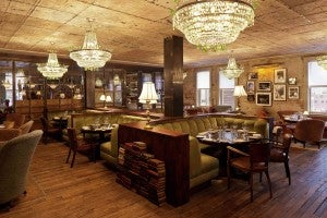 The restaurant is a great place to spend an evening.