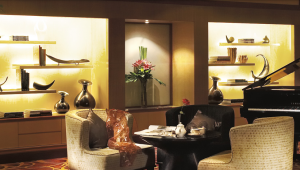 The piano area of the Ritz-Carlton Kuala Lumpur.