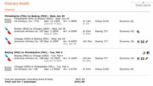 Philadelphia to Beijing for $446