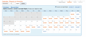 PHX-HNL is still available for $440