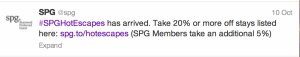 Save with SPG Hot Escapes