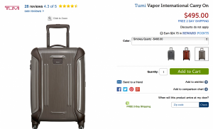 This week's Thursday Giveaway is for a Tumi Carry-on.