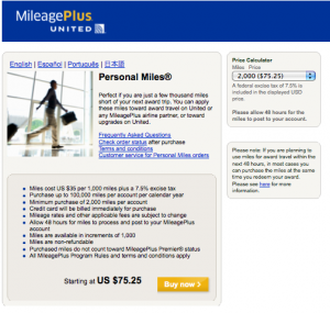 United miles are expensive compared to US Airways' right now!
