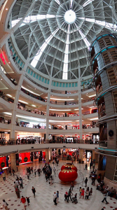 A shopping mall between the Petronas Twin Towers.