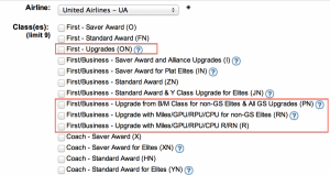 United upgrade space will be disabled November 1, 2013