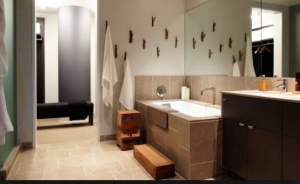Open plan bathrooms, such as this one at the W Hollywood, are not always a good thing.