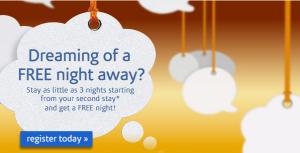 Earn a free night stay with Wyndam Rewards.