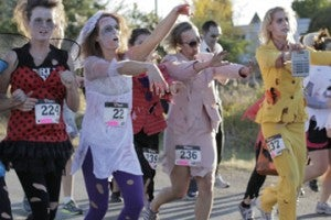 Get into the Halloween Spirit with a 5k Zombie Run.