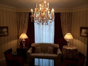 This time my suite had a truly separate parlor.