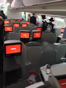 A view of the business class cabin.