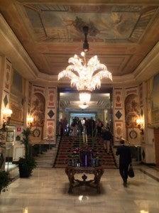 I love the Palace's classic lobby.