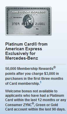 Are you eligible for a sign up bonus if you are an for American express mercedes benz credit card