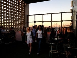 The bar at Le Bain is one of the Westside's top spots for drinks with a view.