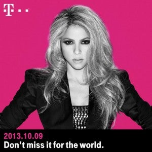 Shakira wants to keep in touch wherever you are in the world for 20 cents a minute.