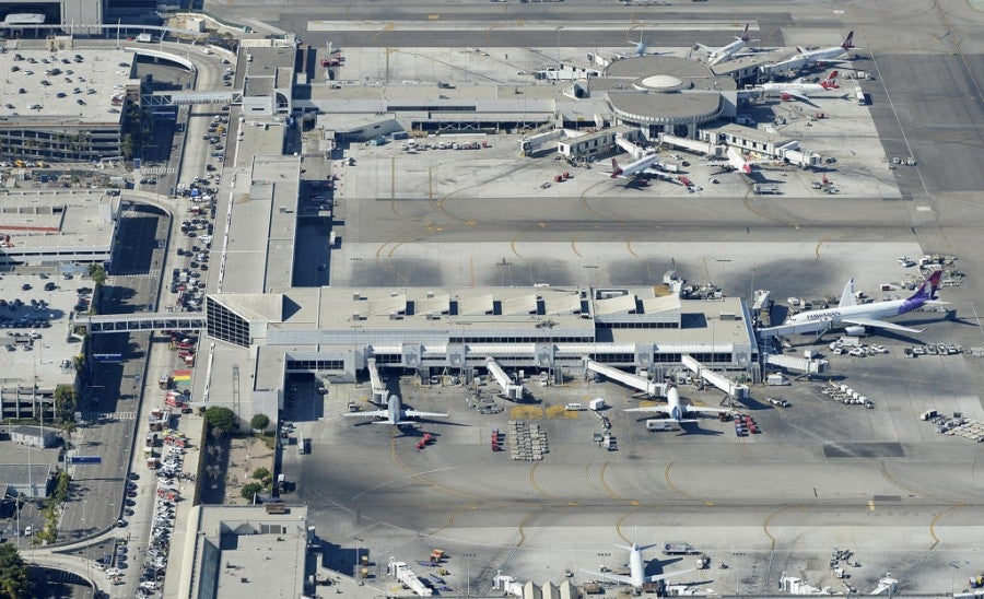 LAX was brought to a standstill this morning.