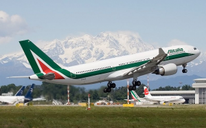 Alitalia flies from the US to Milan's