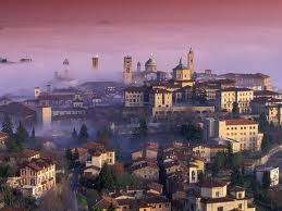 Bergamo is a tiny city perched on a hilltop-just one hour by train from Milan!