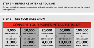 Then then amount that you want to convert for an automatic bonus.