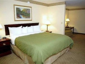 A guestroom at the Country Inn and Suites Denver Airport.