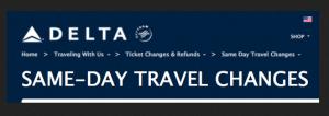 Delta Same Day travel