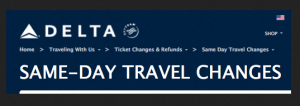 Delta Same Day travel