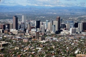 A view of Denver.