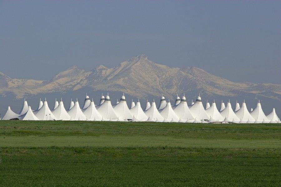 The Denver Airport.