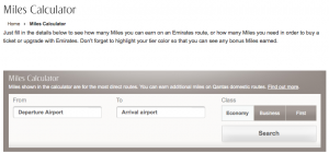 Use the Emirates Miles Calculator to find out how many miles and Tier miles you'll earn.