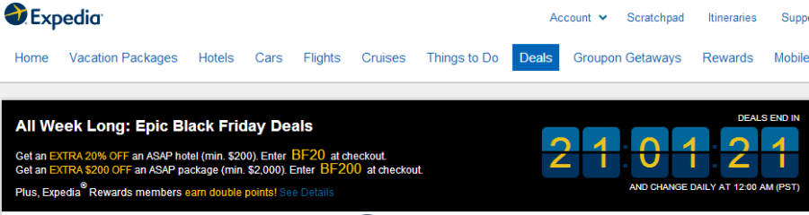 Expedia Has Daily Deals Running All Week In Celebration Of Black Friday