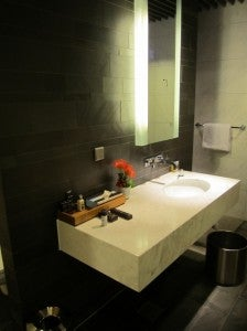 One of the private shower suites.