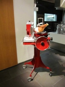The jamon machine.