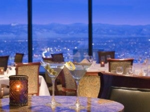 Dining with a view at the Grand Hyatt Denver.