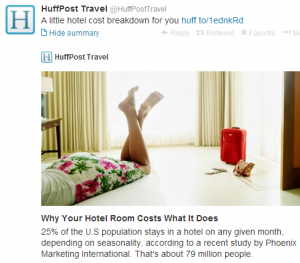 What factors into the cost of the average hotel room?