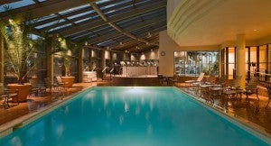 The indoor pool at the Hyatt Regency Denver.