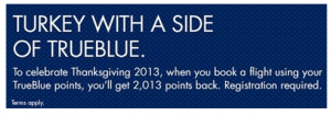 Get 2013 points back into your account when you use them for award travel.