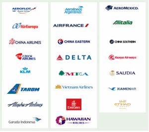 Korean Airlines has a lot of useful partners.