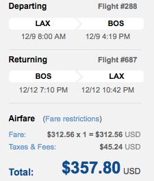 LAX-Boston is