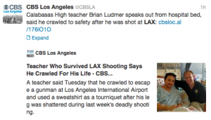 LAX shooting survivor tells his story.
