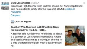 LAX shooting survivor tells his story.
